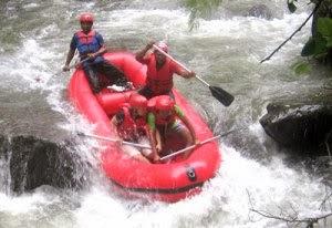 Tempat Wisata Rafting Arung Jeram bali