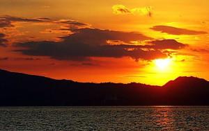 sunset di wisata sabang