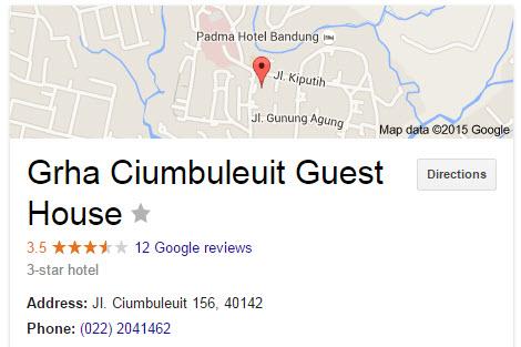 Grha Ciumbuleuit Guest House - Penginapan murah di bandung mulai dari 200 ribu