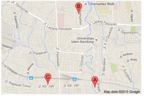 Map Favehotel Bandung - Penginapan Murah di Bandung