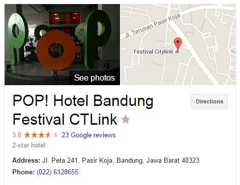 POP Hotel Bandung, Penginapan Murah di Bandung