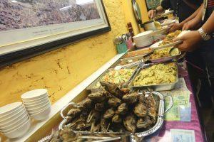 Ikan goreng, perkedel, soup, sambel menu masakan yang disajikan untuk rombongan Taiwan Moslem Educational Trip 2016.