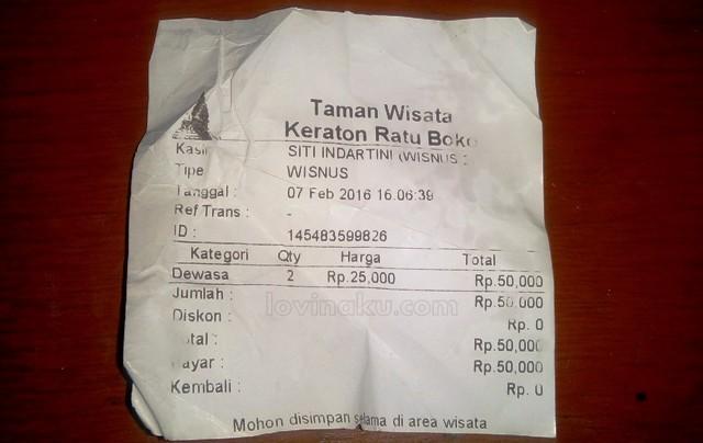 tiket Wisata Keraton Ratu Boko