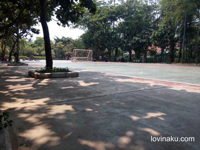 lapangan futsal di taman menteng